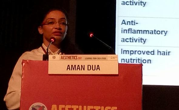 Dr. Aman Dua at Delhi Aesthetics 2017