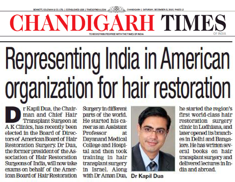 City Surgeon represents Country at American Board of Hair Restoration Surgery
