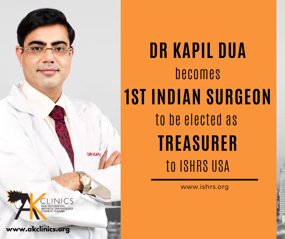 Dr Kapil Dua does India proud, elected as Treasurer at ISHRS, USA