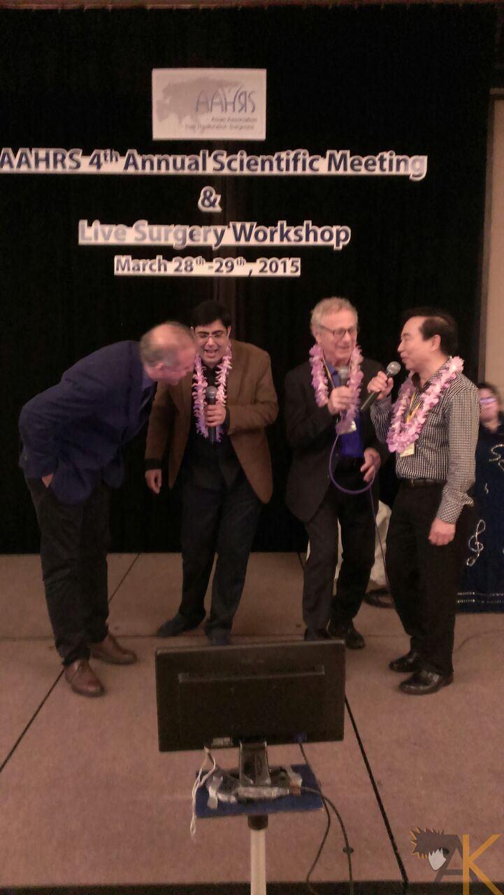 During Karoke Singing at the Gala Dinner with Dr Kamran, Dr Pathomvanich & Dr Marazola