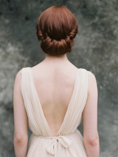 Rolled chignon Hairstyle