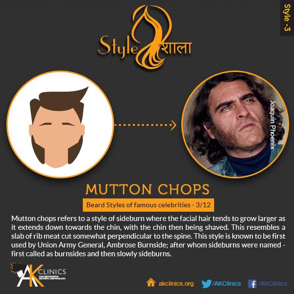 Joaquin Phoenix with Mutton chops beard style
