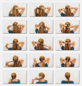 how to tie french braid style