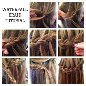 How to tie waterfall braid style