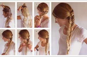 How to tie fishtail braid style