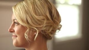 updo hair style for short hair