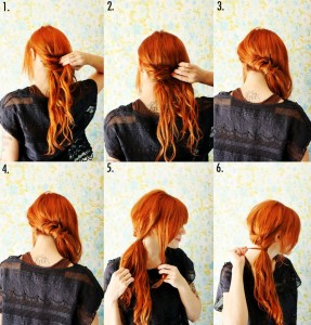 how to tie side ponytail hair styles