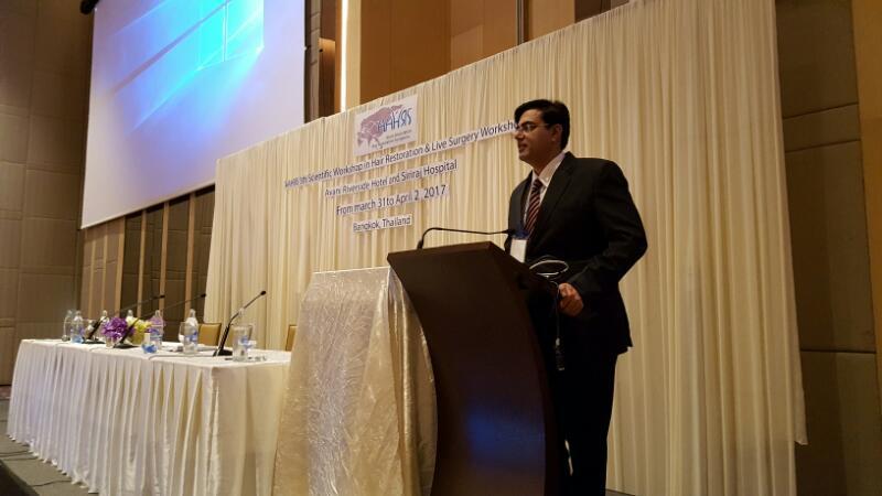 dr kapi dua at 5th Asian Hair Transplant Meeting